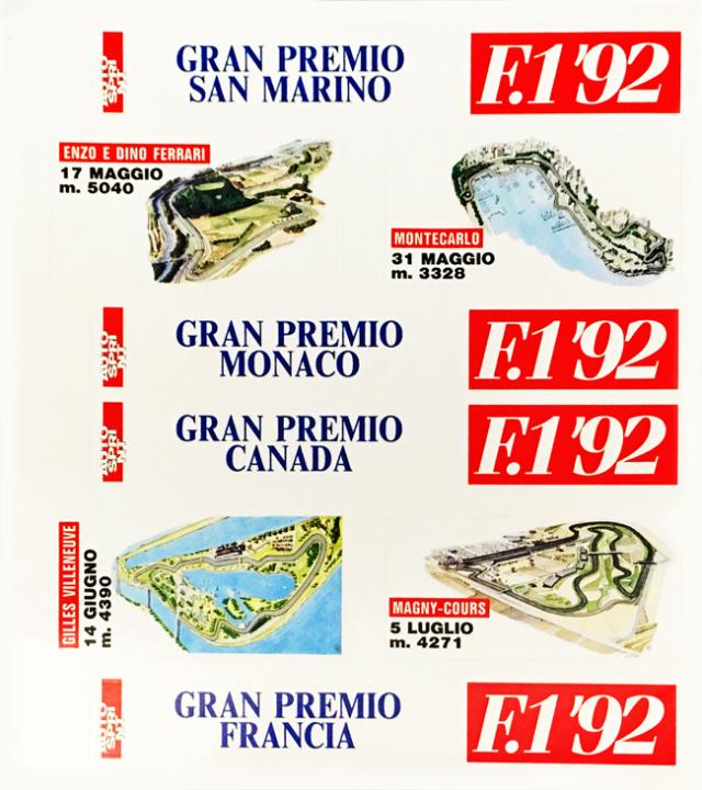 AUTO SPRINT 1992年 ワールドサーキットステッカーセット タイプA