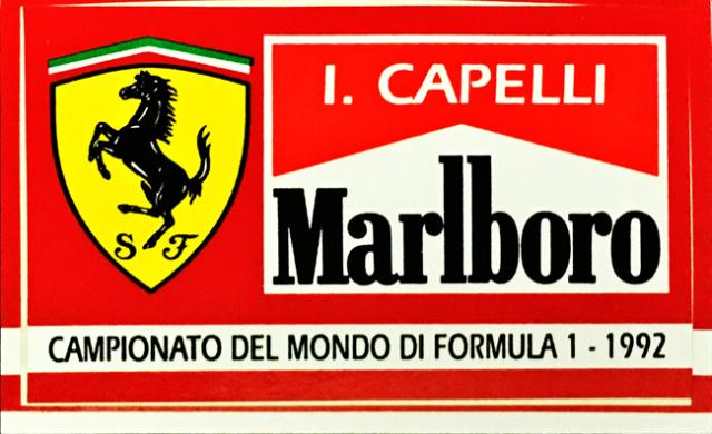 マルボロ フェラーリ イバン・カペリ 1992年 ステッカー