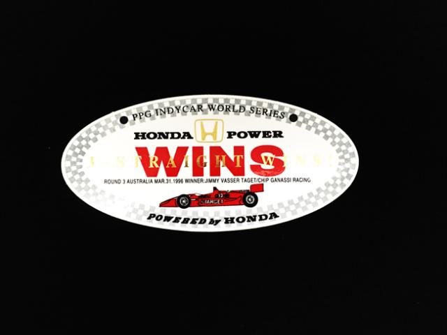 HONDA インディシリーズ1996年サーファーズパラダイスジミー・バッサー優勝 HONDA 3連勝記念ステッカー