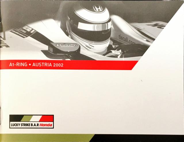 【SALE】BAR HONDA 2002年オーストリアGP メディア&ゲストガイド