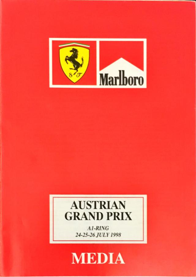 【SALE】フェラーリ マルボロ F1 メディアガイド 1998年オーストリアGP