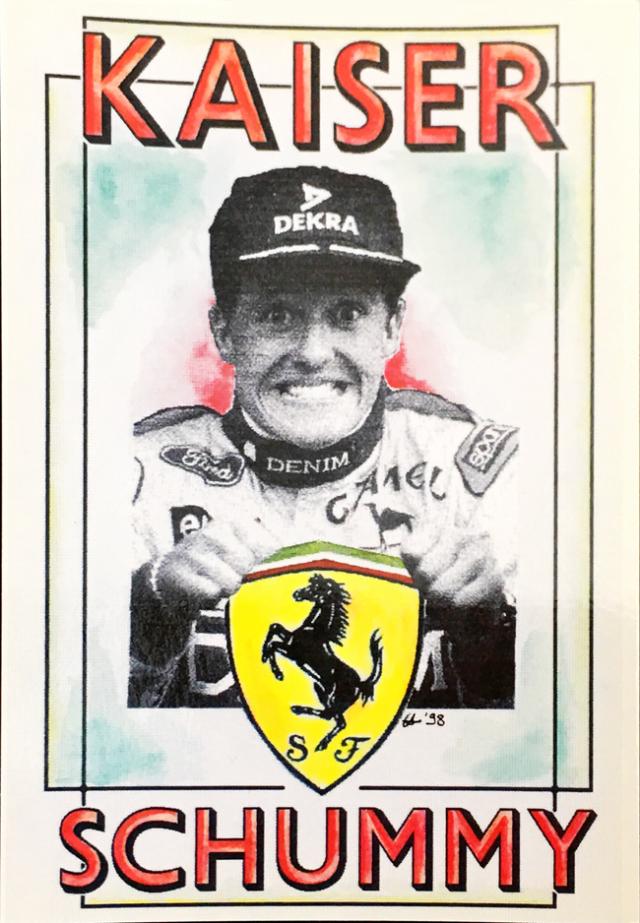 フェラーリミュージアム フェラーリ 皇帝シューマッハ L.アントニオ イラストカード