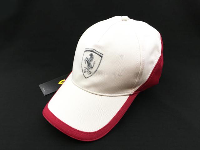 フェラーリ(FERRARI F1) F1パドッククラブ ゲスト用 SFキャップ ホワイト×レッド