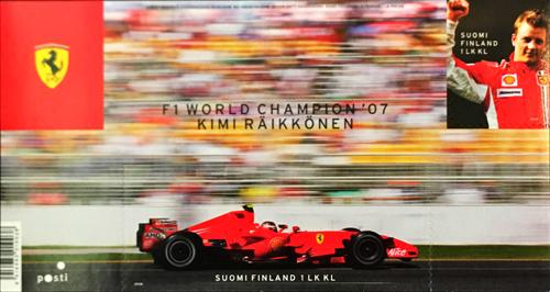 フェラーリ キミ・ライコネン 2007年F1ワールドチャンピオン獲得記念切手