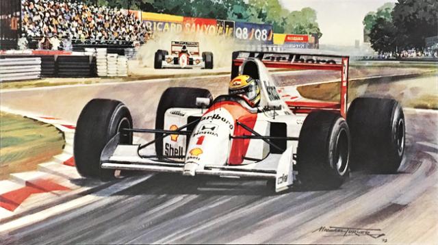 アイルトン・セナ 1992年イタリアGP マイケル・ターナー アートカード