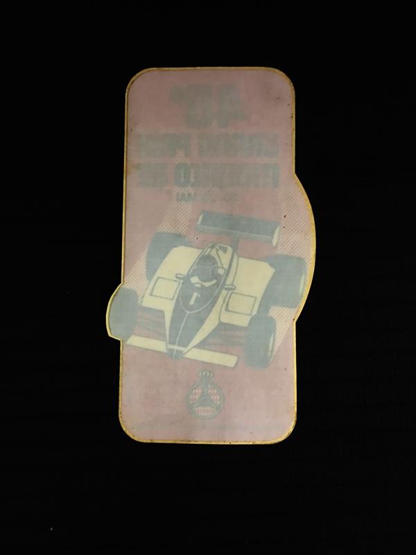 F1モナコGP公式ウインドウステッカー1982年第40回(優勝リカルド・パトレーゼ)