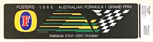 オーストラリアGP 1986年 公式ステッカー