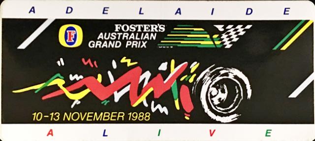 オーストラリアGP 1988年 公式ステッカー