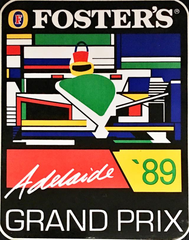オーストラリアGP 1989年 公式ステッカー
