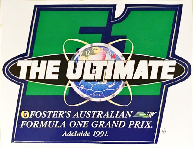 オーストラリアGP 1991年 公式ステッカー