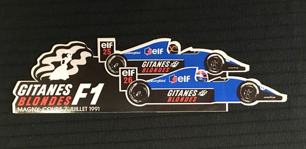 LigierGitanes(リジェ ジタン)1991年 フランスGP プロモーションステッカー