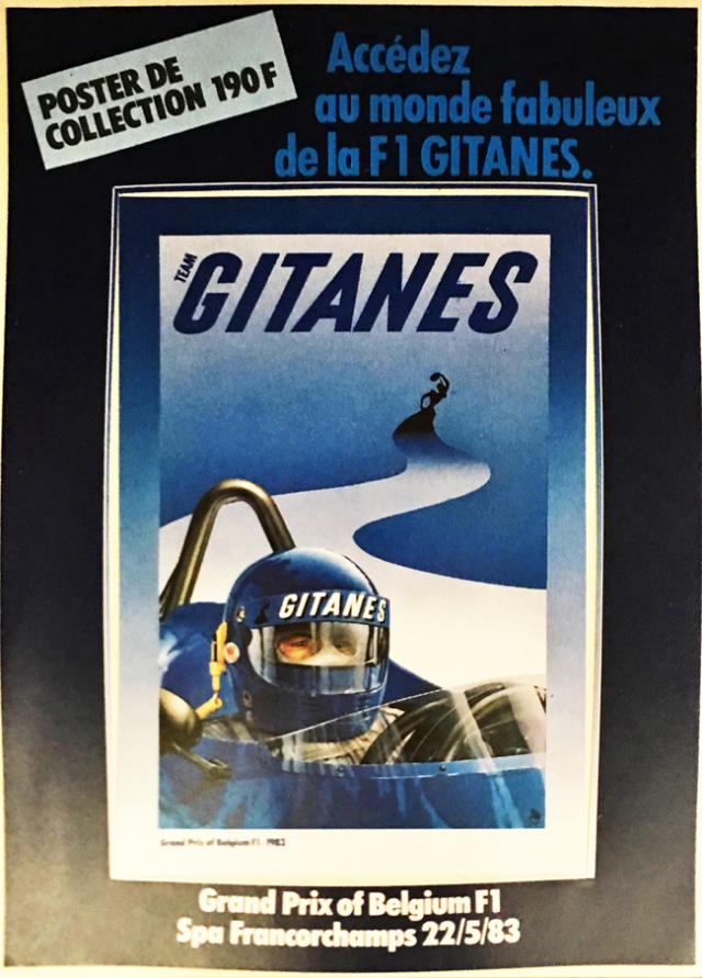 Gitanes(ジタン)1983年 ベルギーGP プロモーションステッカー