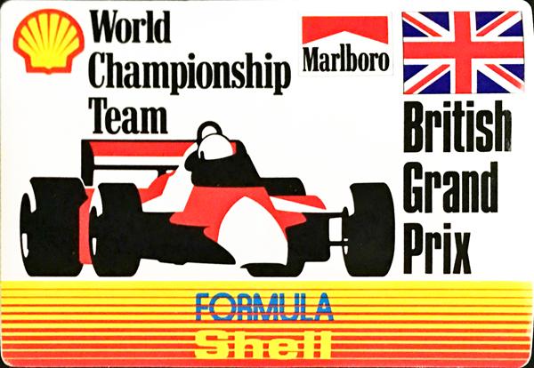 マルボロ (Marlboro)&シェル(Shell) 1990年代 イギリスGP プロモーションステッカー