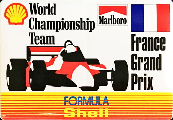 マルボロ (Marlboro)&シェル(Shell) 1990年代 フランスGP プロモーションステッカー