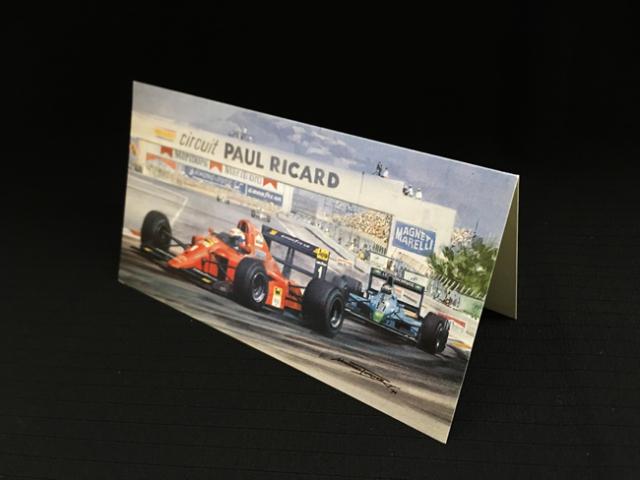 フェラーリ 641 アラン・プロスト 1990年フランスGP マイケル ターナー クリスマス・ニューイヤーカード  2つ折り
