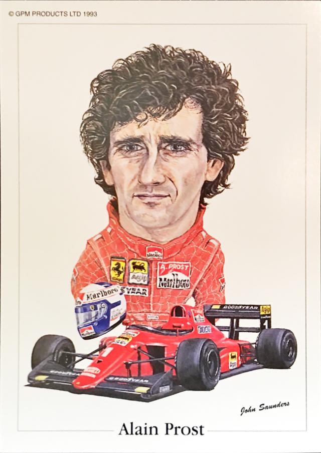 フェラーリ 641 1990年 アラン・プロスト ジョン・サンダース イラストカード