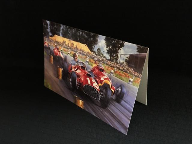 フェラーリ 375・F1 フロイラン・ゴンザレス 1951年イギリスGP フェラーリF1初優勝 ニコラス・ワッツ アートカード 2つ折り