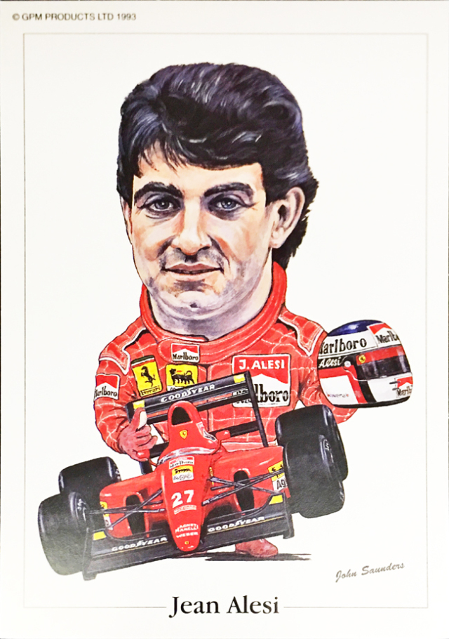 フェラーリ F92A ジャン・アレジ 1992年  ジョン・サンダース イラストカード