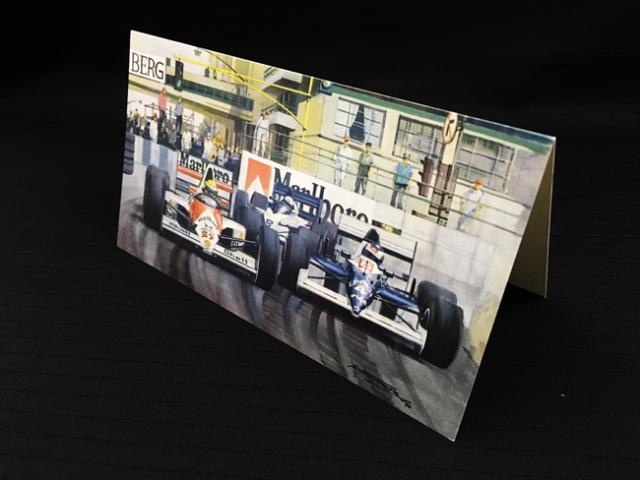 マクラーレン MP4/5B 1990年アメリカGP マイケル・ターナー クリスマス・ニューイヤーカード 2つ折り