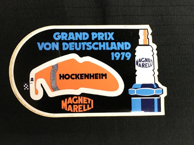 Magneti Marelli(マニエッティマレリ)1979年 ドイツGP ホッケンハイム 開催記念ステッカー