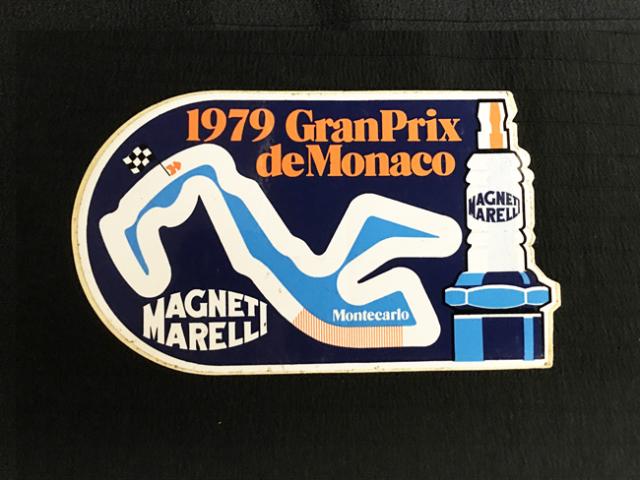Magneti Marelli(マニエッティマレリ)1979年 モナコGP 開催記念ステッカー