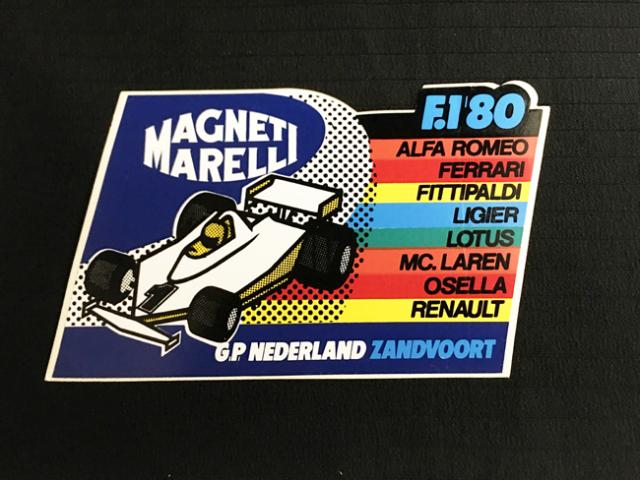 Magneti Marelli(マニエッティマレリ)1980年 オランダGP ザントフォールト 開催記念ステッカー