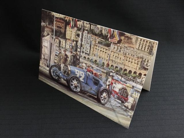 ブガッティ Type35 1930年モナコGP  ニコラス・ワッツ アートカード 2つ折り