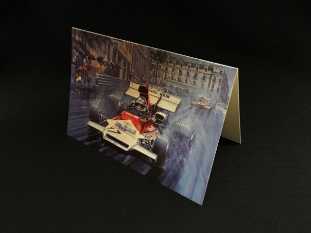 マルボロBRM 1972年モナコGP ジャン・ピエール・ベルトワーズ BRMラストWIN ニコラス・ワッツ アートカード 2つ折り