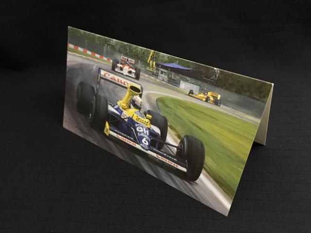ウィリアムズ FW13B 1990年サンマリノGP リカルド・パトレーゼ マイケル・ターナー クリスマス・ニューイヤーカード 2つ折り