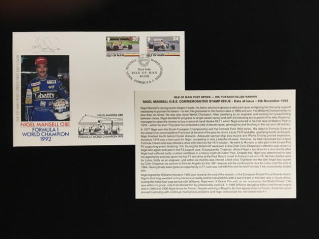ナイジェル・マンセル 1992年チャンピオン獲得記念 切手&封筒セット
