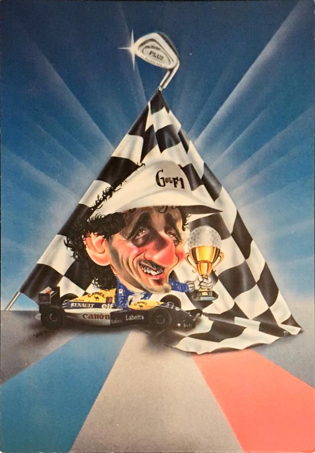 ウィリアムズ アラン・プロスト 1993年ワールドチャンピオン獲得記念ポストカード