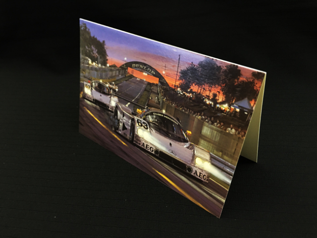 ザウバー・メルセデス C9 1989年ルマン24 ヨッヘン・マス ETC ニコラス・ワッツ アートカード 2つ折り