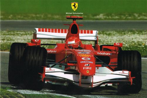 フェラーリ 2006 シューマッハ マシンカード