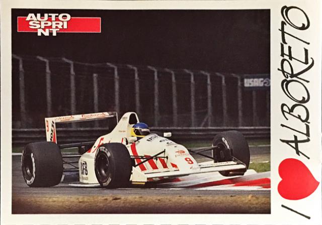AUTO SPRINT(イタリア雑誌)I LOVE ALBORETO(M.アルボレート)ファンカード