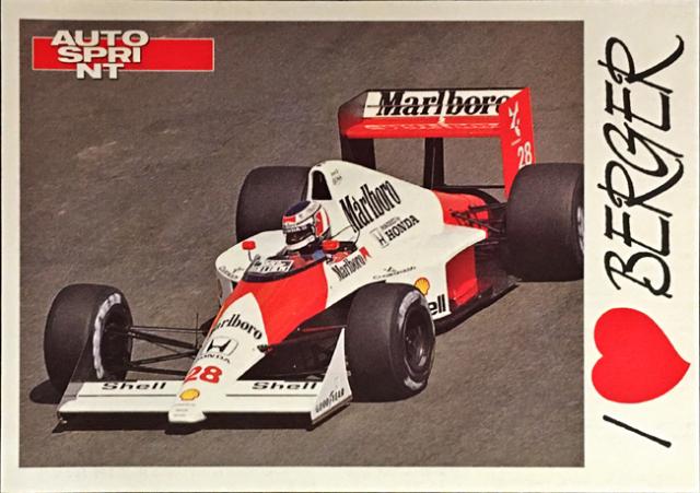 AUTO SPRINT(イタリア雑誌)I LOVE BERGER(G.ベルガー)ファンカード