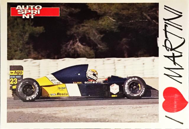 AUTO SPRINT(イタリア雑誌)I LOVE MARTINI(P.マルティニ)ファンカード