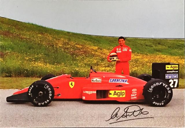 フェラーリ(FERRARI F1) 1987 M.アルボレート ファクトリーカード