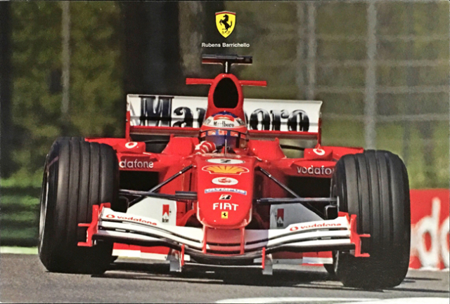 フェラーリ(FERRARI F1) 2005 R.バリチェロ マシンカード