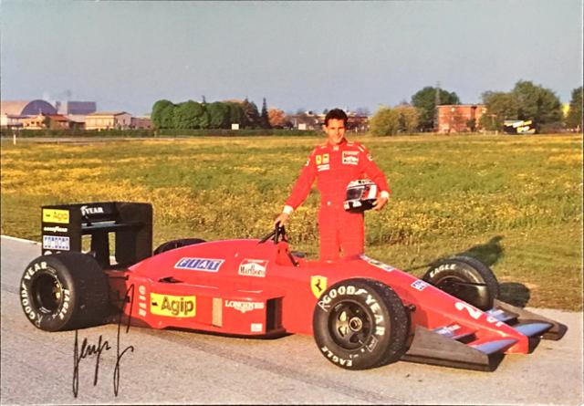 フェラーリ(FERRARI F1) 1987 G.ベルガー ファクトリーカード