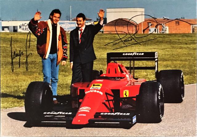 フェラーリ(FERRARI F1) 1989 G.ベルガー & N.マンセル ファクトリーカード