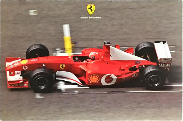 フェラーリ(FERRARI F1) 2002 M.シューマッハ マシンカード