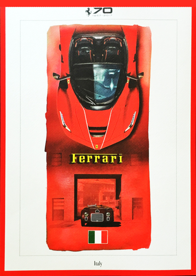 FERRARI(フェラーリ)70周年記念リトグラフ