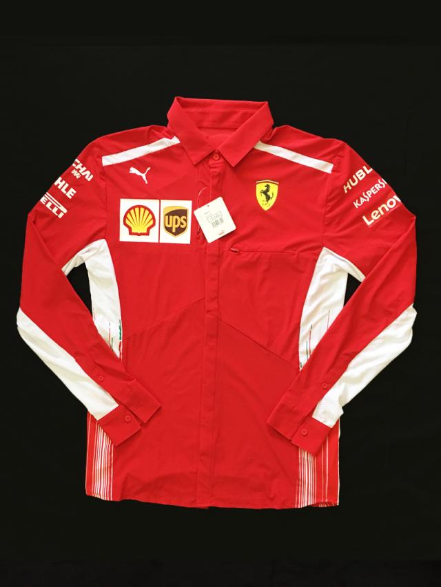 2019 フェラーリ(FERRARI F1) チーム支給品 (オーストラリアGP用)チーム上級スタッフ向け PIT長袖シャツ 新品 サイズM(大きめ)