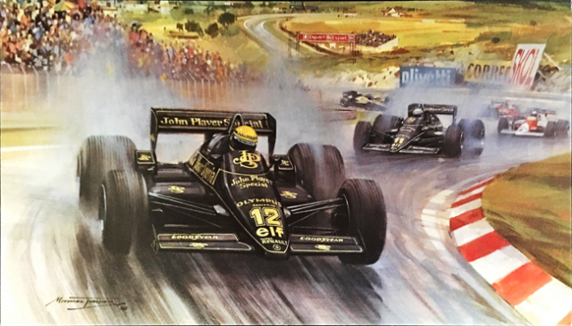 アイルトン・セナ 1985年 ロータス97T ポルトガルGP マイケル・ターナー アートカード