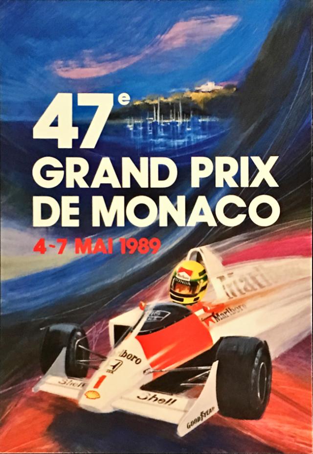 1989年 F1モナコGP  公式カード アイルトン・セナ