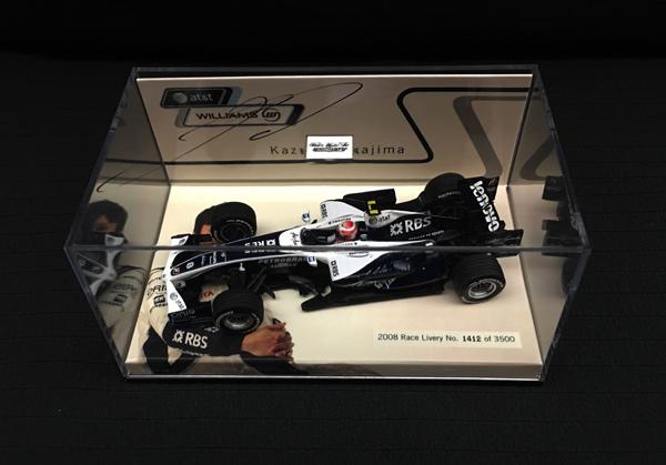 中嶋一貴 直筆サイン入 ミニチャンプス 1/43 ウィリアムズ別注 2008 ショーカー