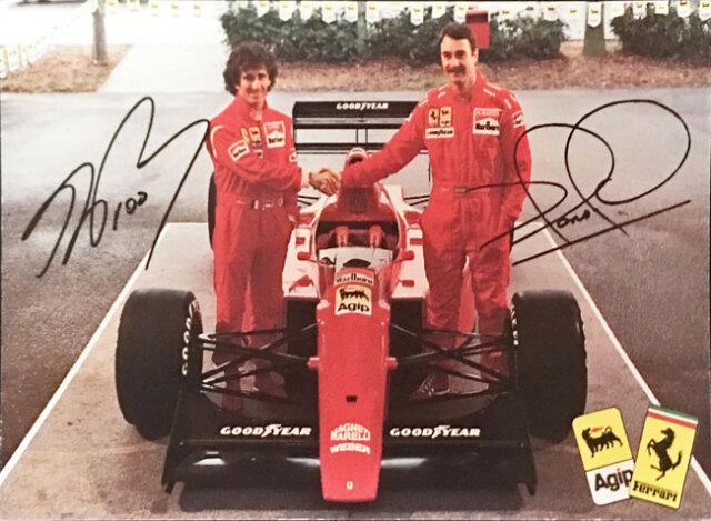 フェラーリ(FERRARI F1)1990年 A.プロスト & N.マンセル FERRARI&AGIPマーク入 ファクトリーカード