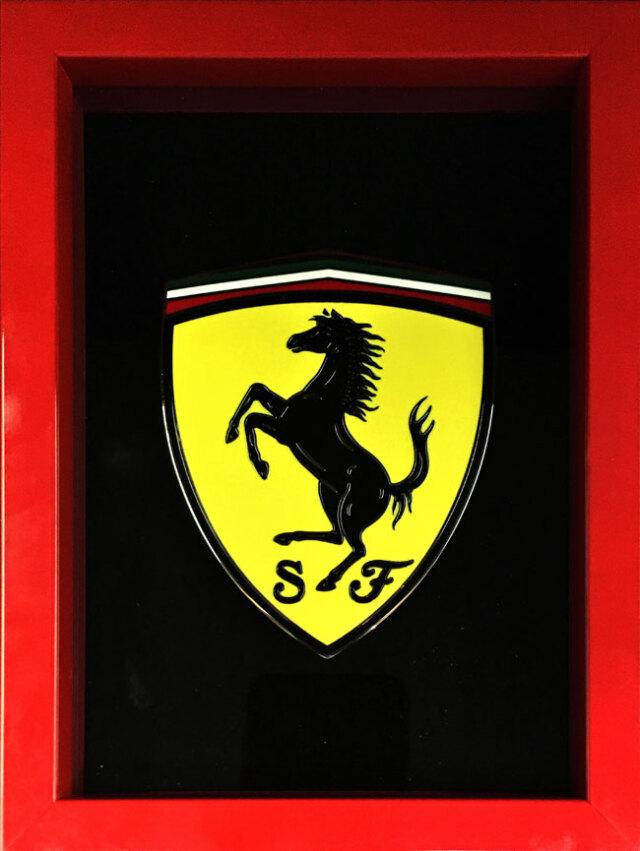 フェラーリ(FERRARI) 360モデナ&F430用公式SFエンブレム(額装品)
