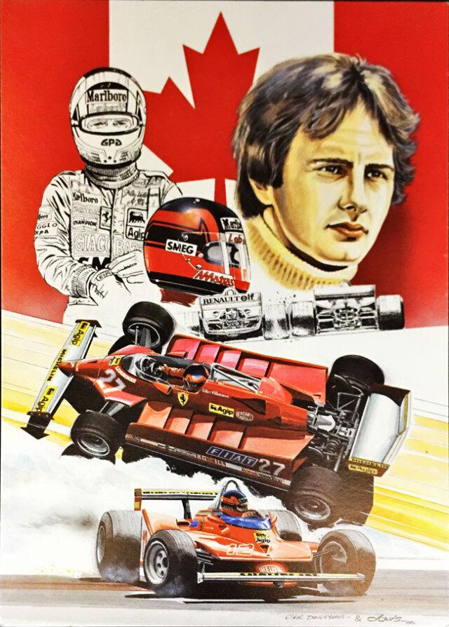 ジル・ビルニューブ フェラーリ126CK クロビス アートカード