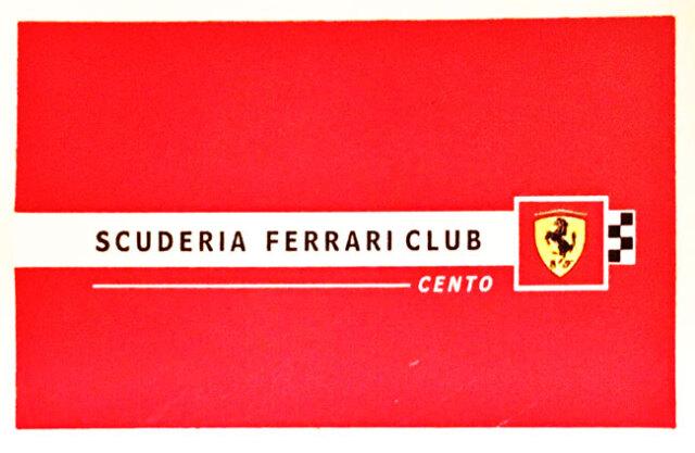 フェラーリ イタリア(SCUDERIA FERRARI CLUB CENTO)ステッカー